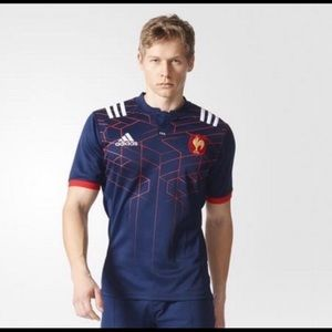 Adidas FFR Rugby Replica Jersey Mens S Blue Red